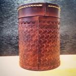 牛革巻き 茶缶